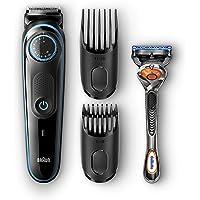 Braun Bt 5040 Autosense Teknoloji Kablosuz Islak Ve Kuru Saç Ve Sakal Şekillendirici, Siyah/Mavi