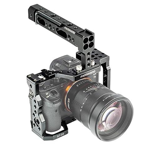 FANSHANG Jaula de Aluminio para cámara de vídeo, estabilizador de ...