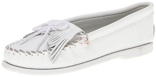 Minnetonka Unbeadedkilty, Mocasines para Mujer, Blanco (Black/Red), 45 EU: Amazon.es: Zapatos y complementos