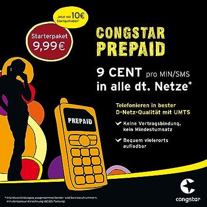 Congstar Prepaid Karte Kaufen.Congstar Prepaid Karte Inkl 10 Euro Startguthaben