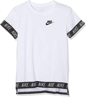 NIKE Sportswear Camiseta, niña, Blanco, Large: Amazon.es: Ropa y accesorios
