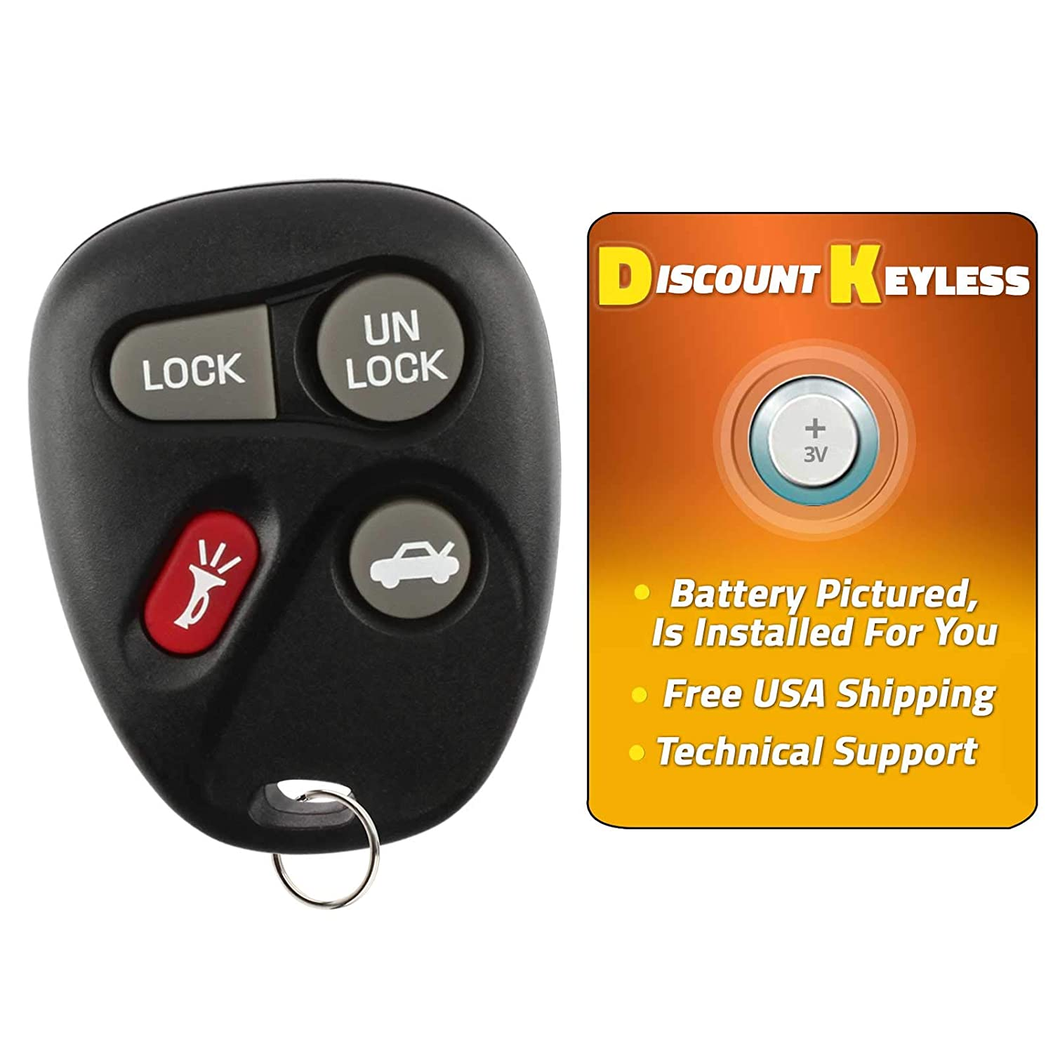 2 Pack Discount Keyless Replacement Key Fob Car Entry Remote For Buick Century Regal Intrigue Grand Prix 10246215