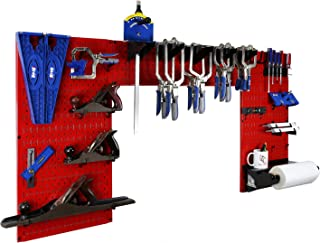 product image for Wall Control Woodworking Tool Storage Organization Kit - Lazy Guy DIY Edition Wood Working Tool Supply Organizer for Do-It-Yourself Woodworkers and Makers (Red Pegboard)