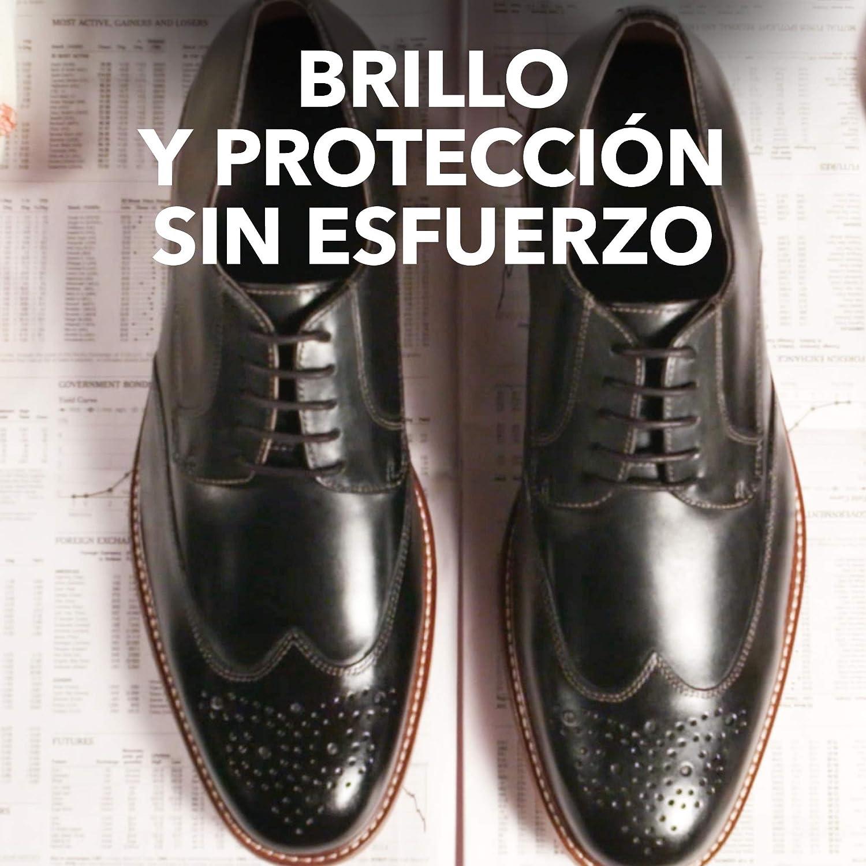 KIWI Crema de Ceras Shine & Protect, Protege y Abrillanta Tu Calzado, Autoaplicador, Color Azul - 75 gr