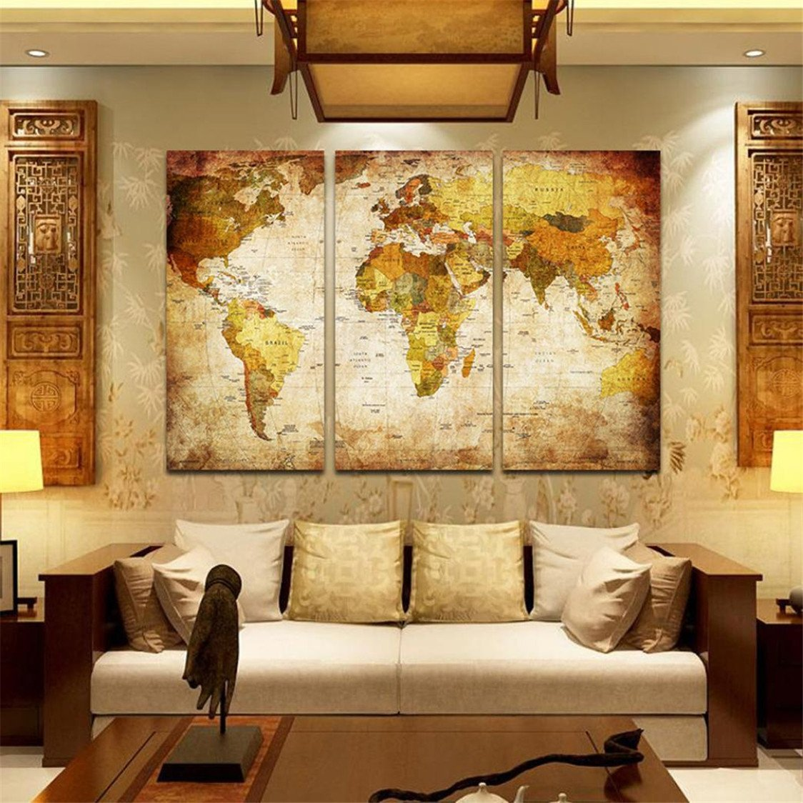 Amazon.com: 3 Pcs/Set 4080 inch Unframed Modern Home Wall Room ...