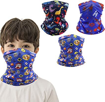 Kids Neck Gaiters with Ear Loops Face Cover for Boys Girls Bandana  Balaclava Fashion Scarves Girls