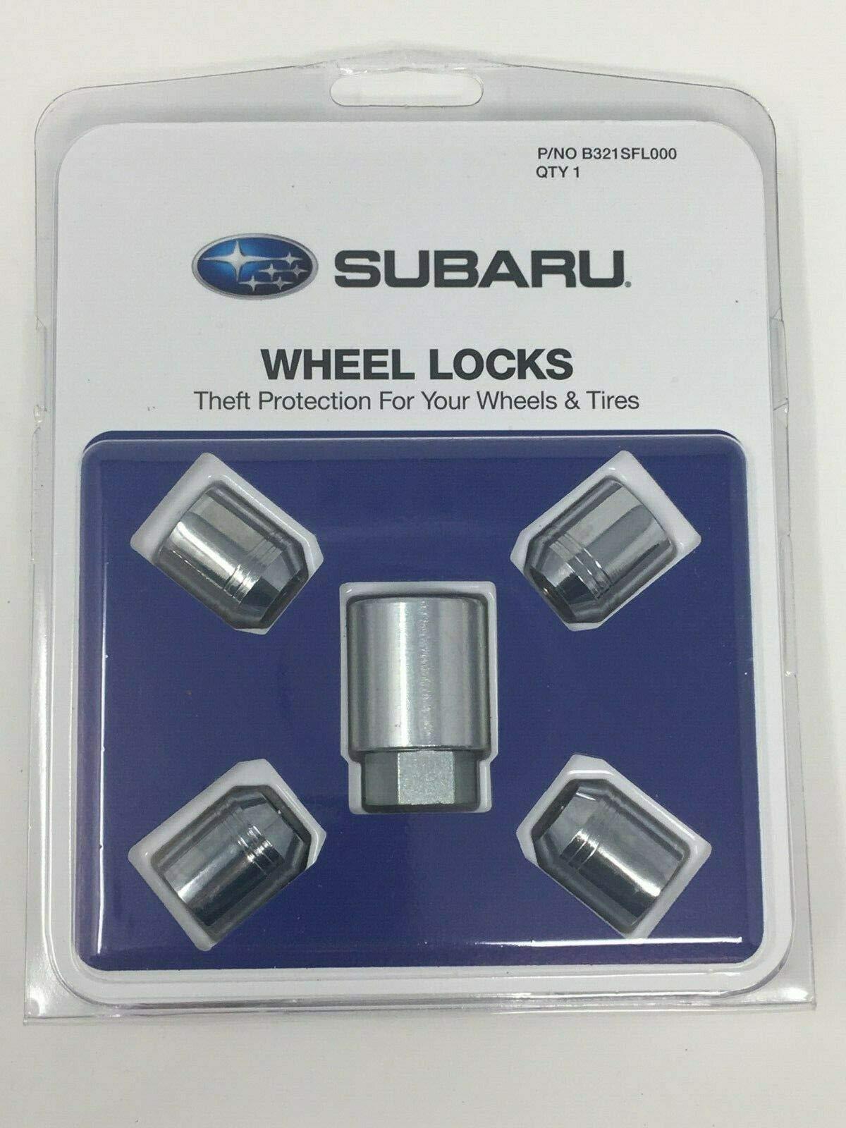 SUBARU 2009-2020 Alloy Wheel Lock Lug Nuts Set OEM B321SFL000 Genuine All Models Ascent WRX STI Forester Outback CROSSTREK by SUBARU