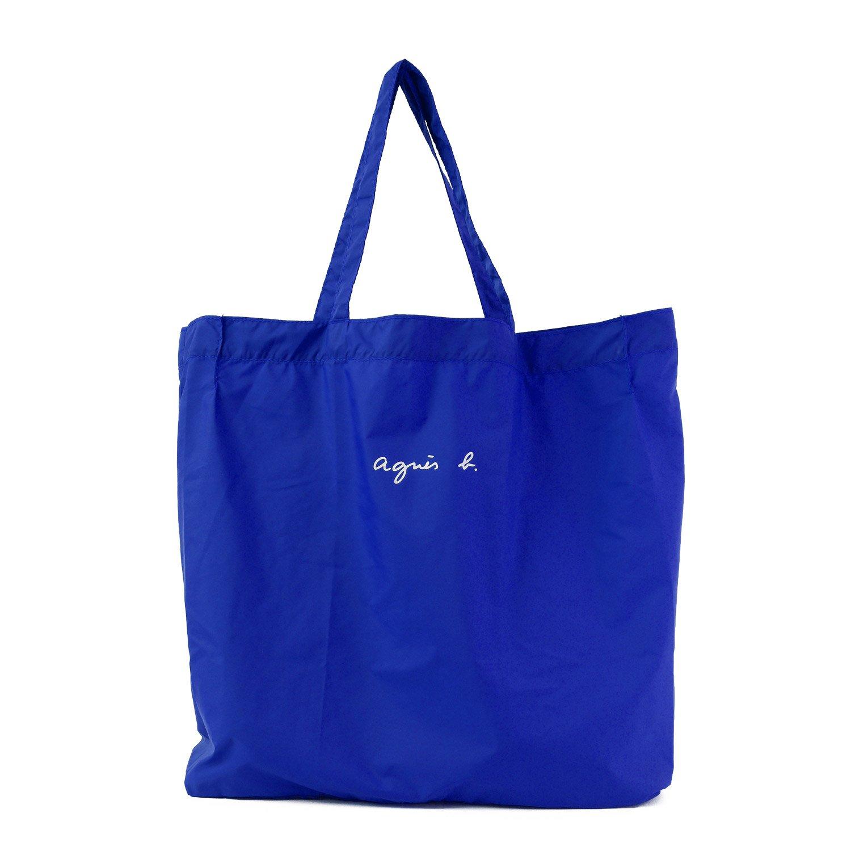 (アニエスベー ボヤージュ) agnes b. VOYAGE ナイロン エコバッグ JO01-01 B076KBBL7G ブルー ブルー