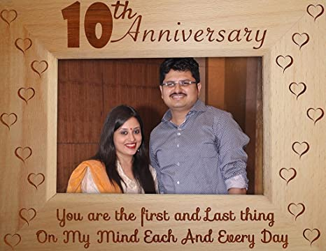 Buy Tied Ribbons 10th Marriage Anniversary For Gift Husband Wife