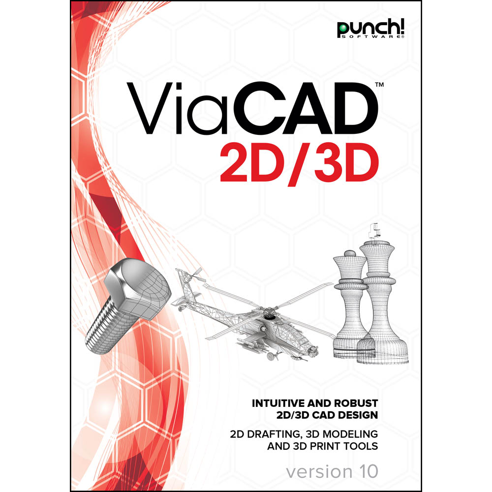 Punch! ViaCAD 2D/3D v10 for Windows PC [Download] (Turbocad Software)