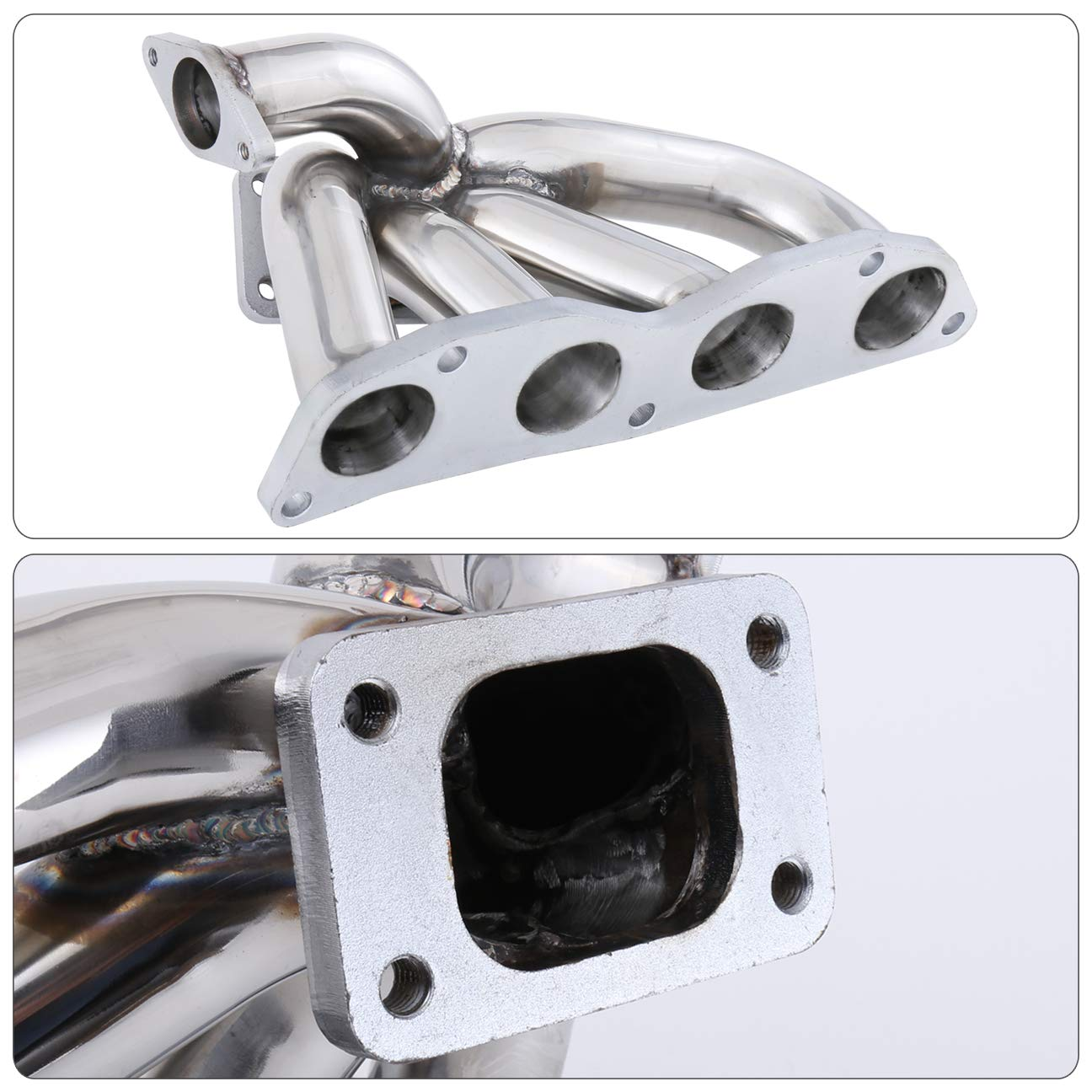 AJP Distributors T3 Turbo Manifold Stainless Steel High Performance Upgrade Fits 2.0L K20A2 K20A3 K20Z1 K20Z3 DOHC 2002-2011 Honda Civic Si Acura RSX EP3 FA5 FG2 DC5