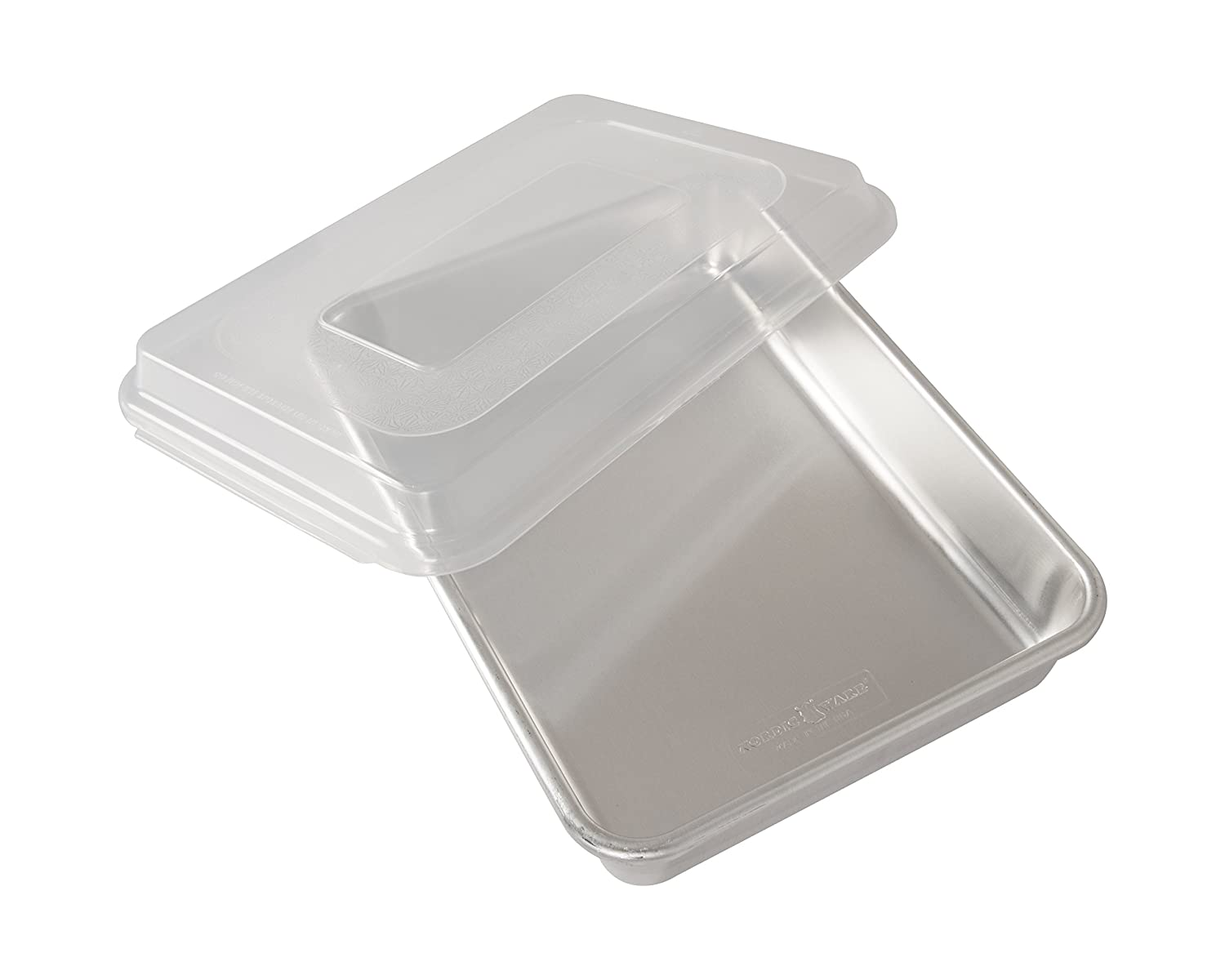 Nordic Ware Natural Aluminum Commercial Cake Pan with Lid