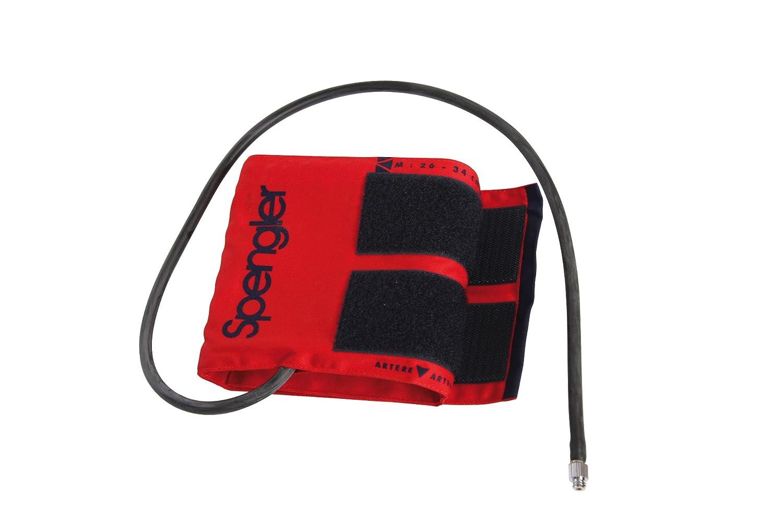 Spengler - Brazalete adulto para tensiómetro (incluye funda, con tornillo de ajuste, algodón, talla L), color rojo: Amazon.es: Industria, empresas y ciencia