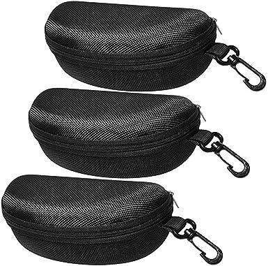Samtlan Funda de Gafas de Sol 3 pcs Estuche para Gafas Negro Sunglasses Case para Hombre Mujer: Amazon.es: Ropa y accesorios