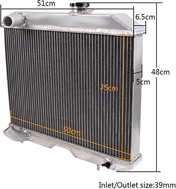 2Row Core Aluminum Radiator For 1941-1952 Jeep Willys MB//CJ-2A// M38// Ford GPW D5