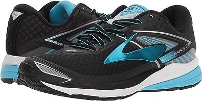 Brooks Women's Ravenna 8 Black/Silver/Aquarius Athletic Shoe