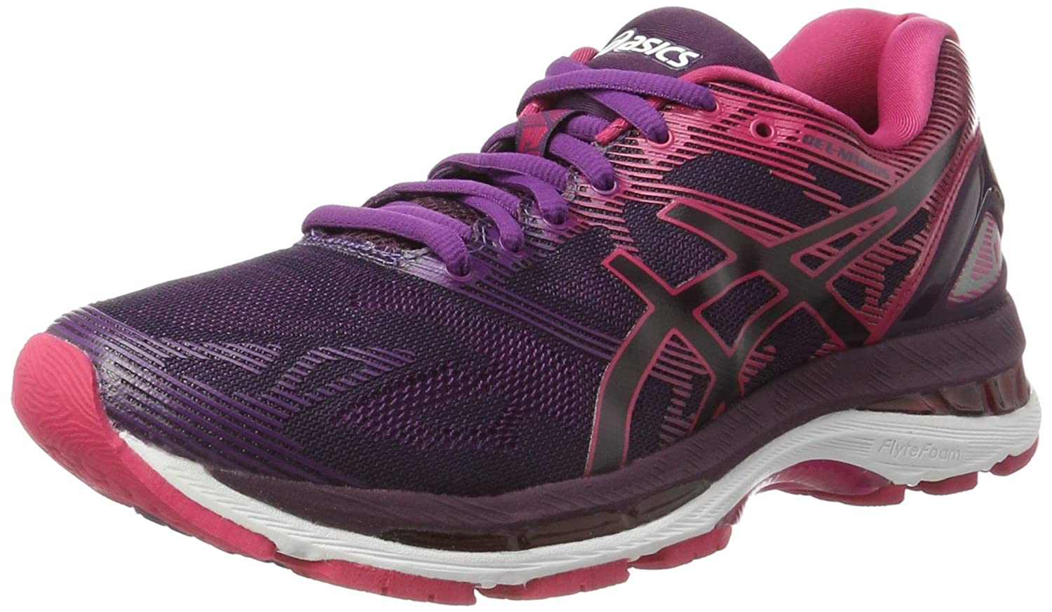 Asics Gel-Nimbus 19, Zapatillas de Running para Mujer 40 EU|Negro (Black / Cosmo Pink / Winter Bloom)