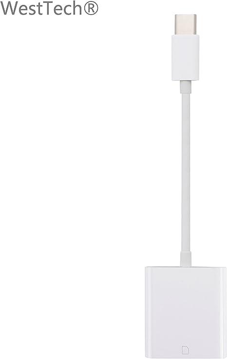 WestTech® USB-C Type-C Lector de SD Tarjetas, USB-C Type-C to SD ...