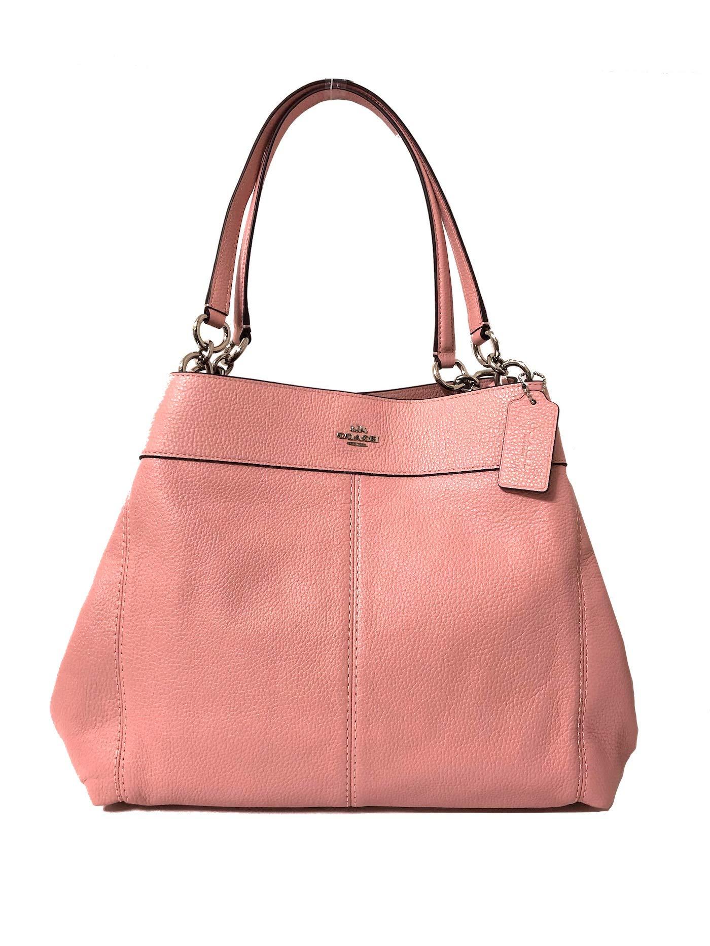 Coach F57545 Lexy Pebble Leather Shoulder Bag (SV/Petal)