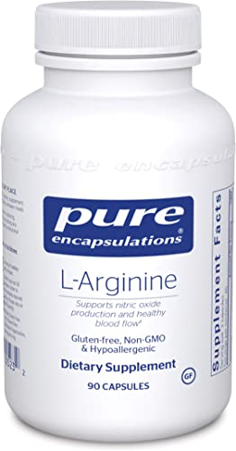 Pure Encapsulations – L-Arginine – Supports Nitric Oxide Production and Healthy Blood Flow – 90 Capsules