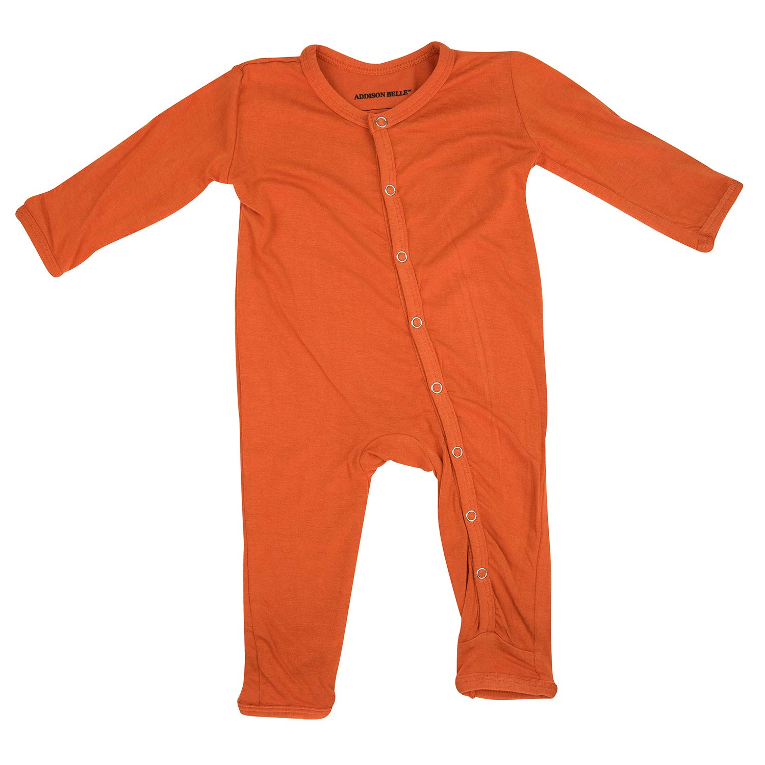 0-3 Month Size Burnt Orange ADDISON BELLE Premium Knit One Piece Baby Romper Ultra Soft /& Breathable