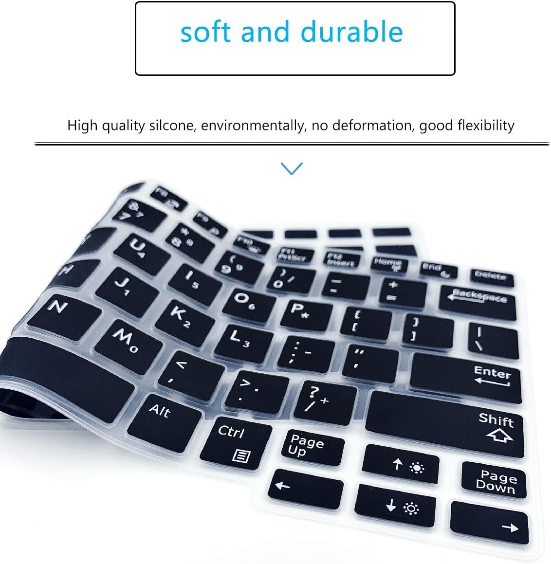 MUBUY Keyboard Cover Fit Dell Latitude 7290 7280 7380 7390 5290 Mint Green Dell Latitude E5250 E5270 E7250 E7270 E7370 E7389 Soft-Touch Protective Skin