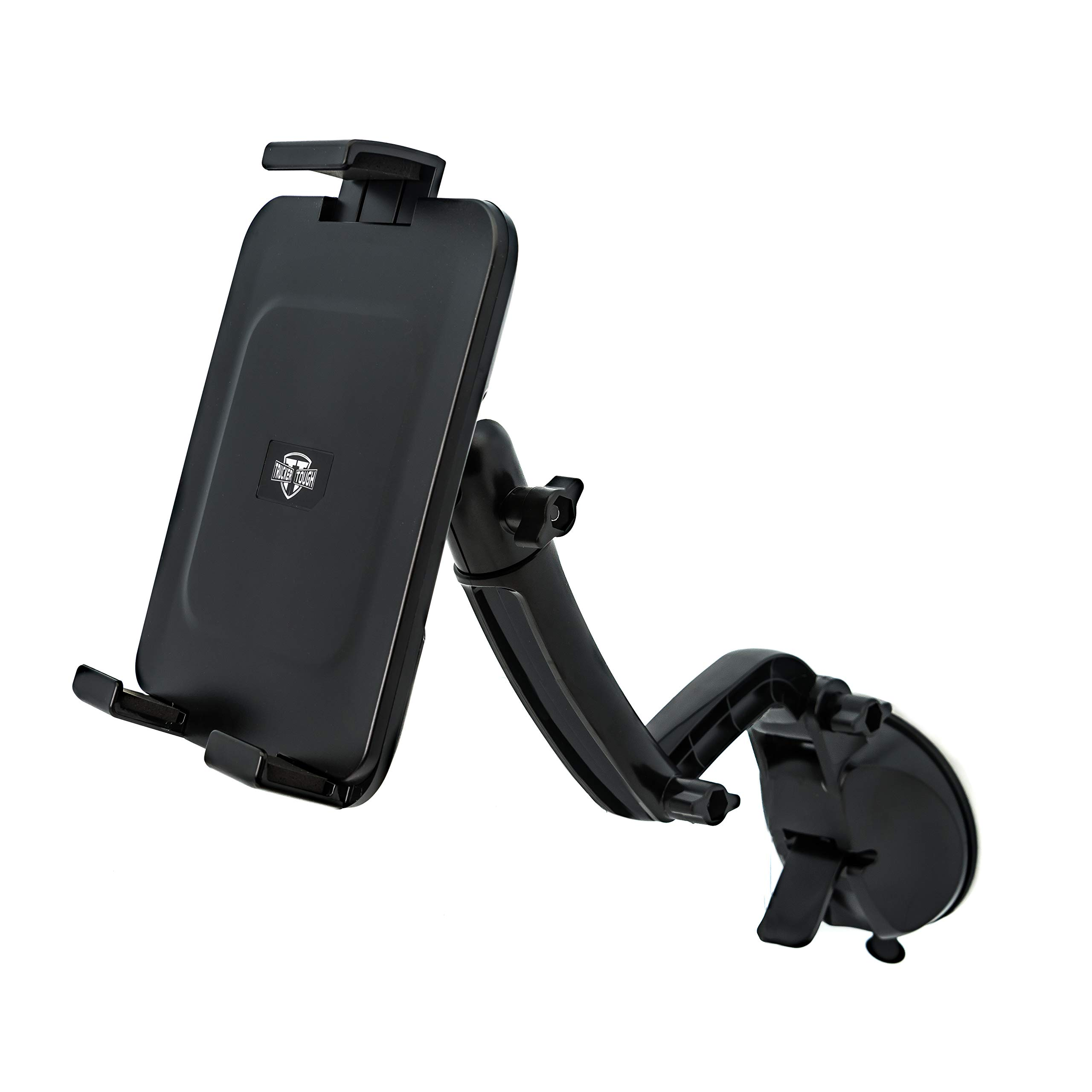 Trucker Tough Tablet Mount Holder for ELD GPS Garmin Nuvi Tomtom Via Go Magellan DashCam Navigator & Phablet-Style Smartphone Devices in Cars and Trucks TT1-616-1