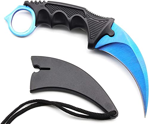 Nvetls CSGO Knife Sharp Pocket Knives with Sheath for Outdoor, Camping and Game Fans