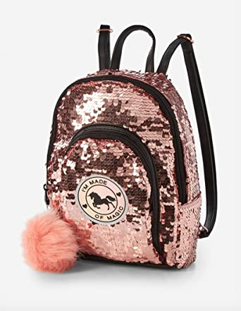 Amazon.com | Justice Unicorn Sequin Mini Backpack | Casual Daypacks