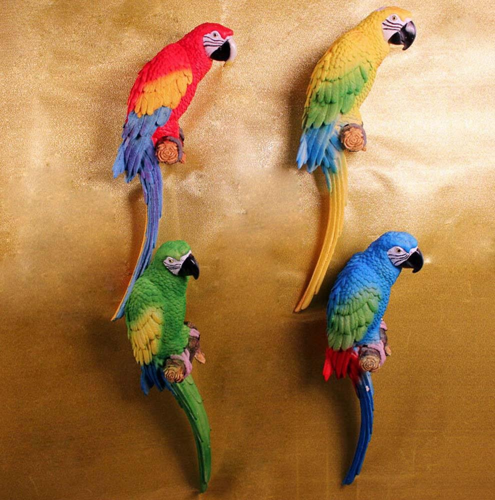 WWQY Simple garden resin ornaments simulation parrot wall decoration crafts living room entrance wall hanging 13 13 49 , 131349