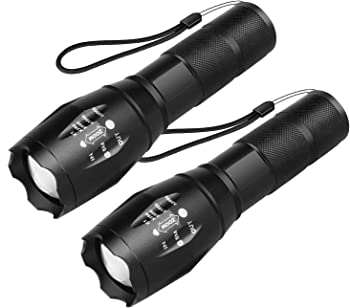 2-Pack Beacon LED Tactical Flashlight with High Lumens