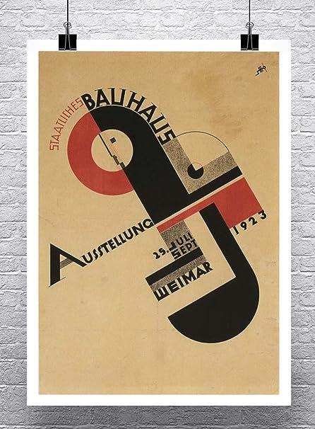 Bauhaus Design Vintage Art Poster Premium Canvas Giclee Print 17x22 in.