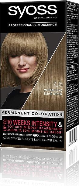 Syoss Color Baseline 7-6 - Tinte para el pelo, color rubio ...