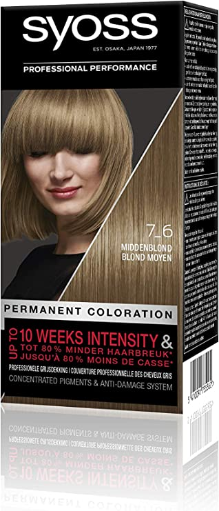 Syoss Color Baseline 7-6 - Tinte para el pelo, color rubio medio ...