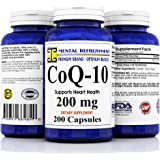 Mental Refreshment: Pure CoQ10 200Mg 200 Capsules (1 Bottle)