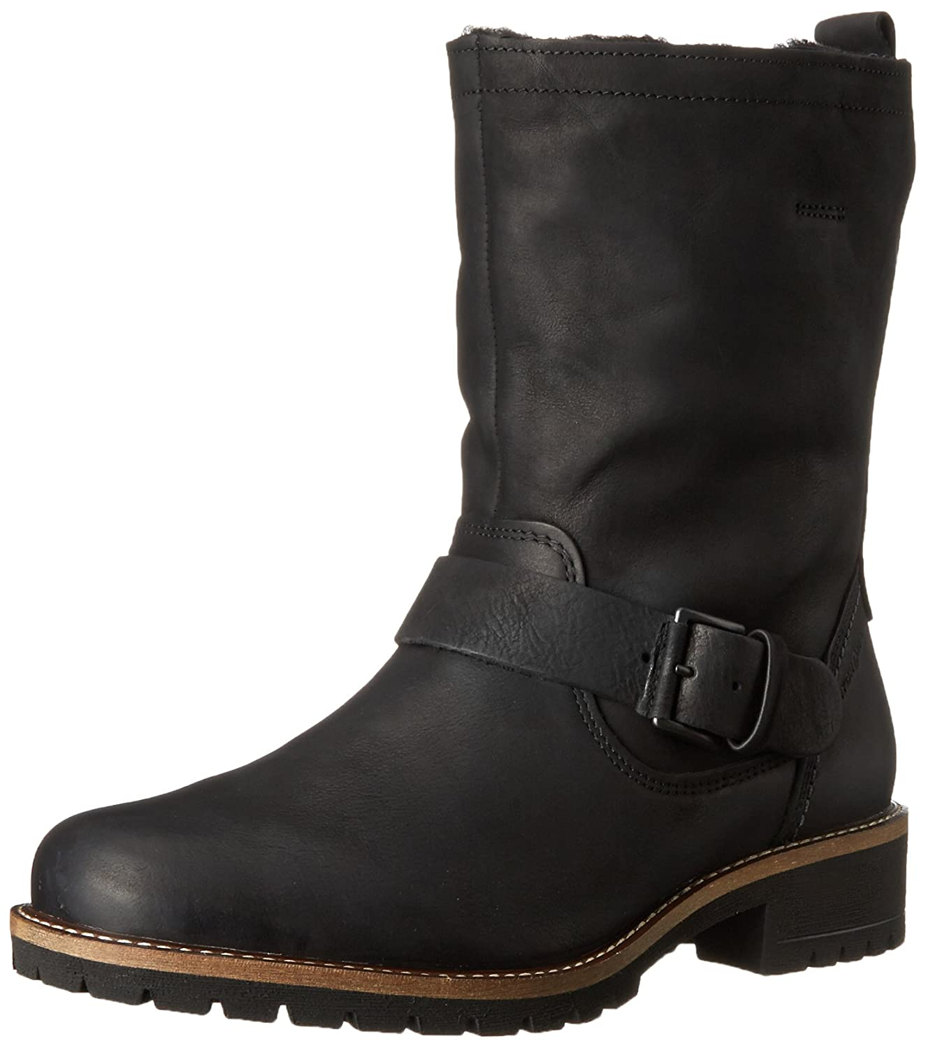 Black Ecco Footwear Womens Elaine Buckle Boot