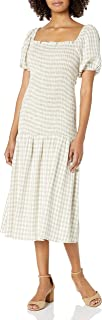 product image for Rachel Pally Women's Square Neckline Dress with a Smocked Bodice and Drop Waist