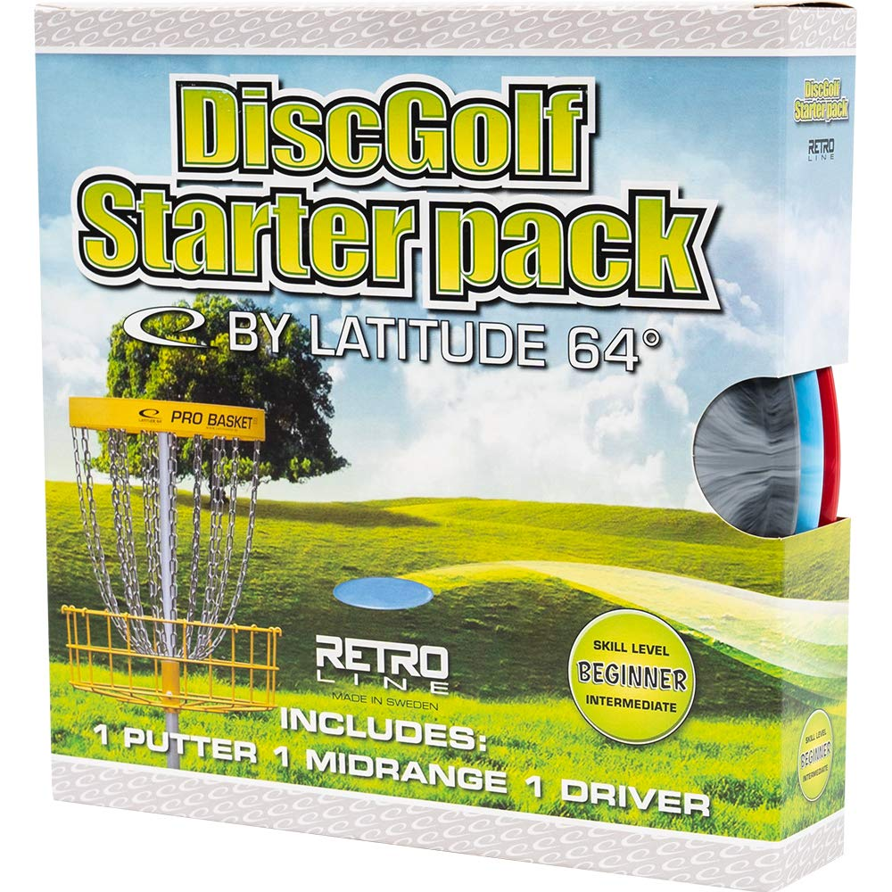 D·D DYNAMIC DISCS Latitude 64 Beginner Retro Burst Disc Golf Starter Set