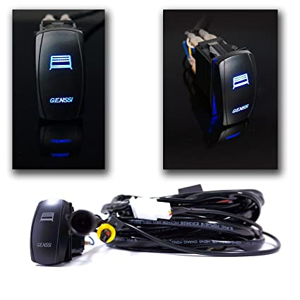amazon com genssi led light bar relay and led switch 9ft 4x4 off rh amazon com Off-Road Light Wiring Harness Off-Road Light Wiring Harness