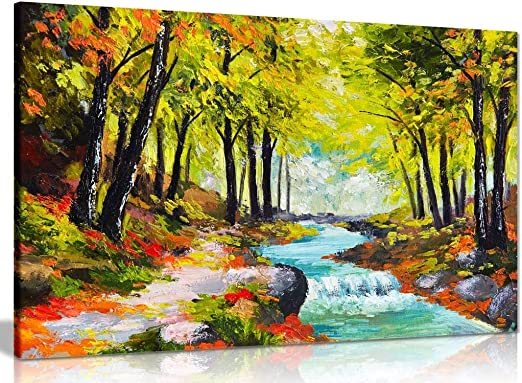 AUTUMN FOREST POSTER Wall Art Print Picture Photo A3 A4