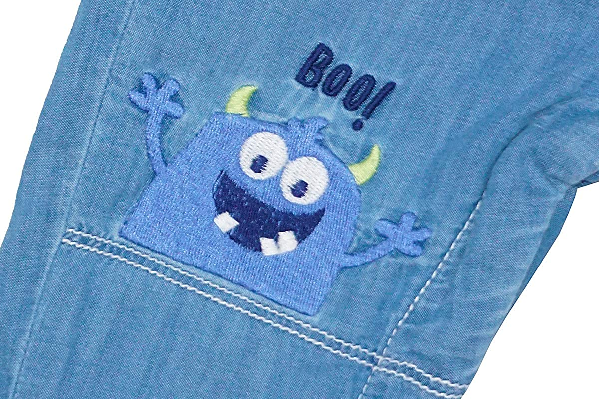 Get Wivvit Boys Toddler Here Comes Trouble Denim Dungarees /& Top Set Sizes from 6 Months to 4 Years