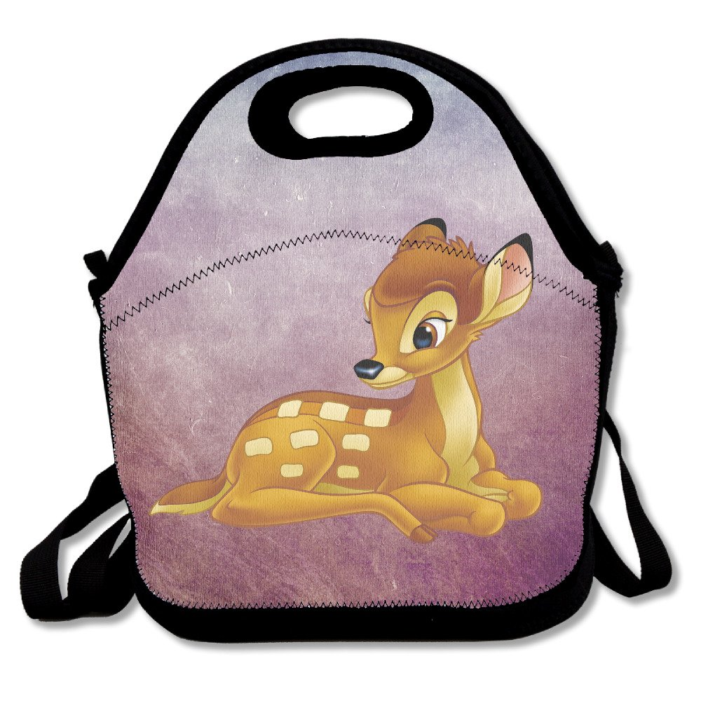Bambi Lunch Bag Lunch Boxes, Waterproof Outdoor Travel Picnic Lunch Box Bag Tote With Zipper And Adjustable Crossbody Strap LIUKOO
