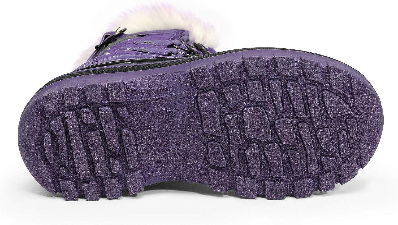 DREAM PAIRS Kids Insulated Waterproof Winter Snow Boots
