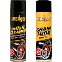 KANGAROO Chain Lubricant Spray and Chain-Cleaner (Brown, 500ml)