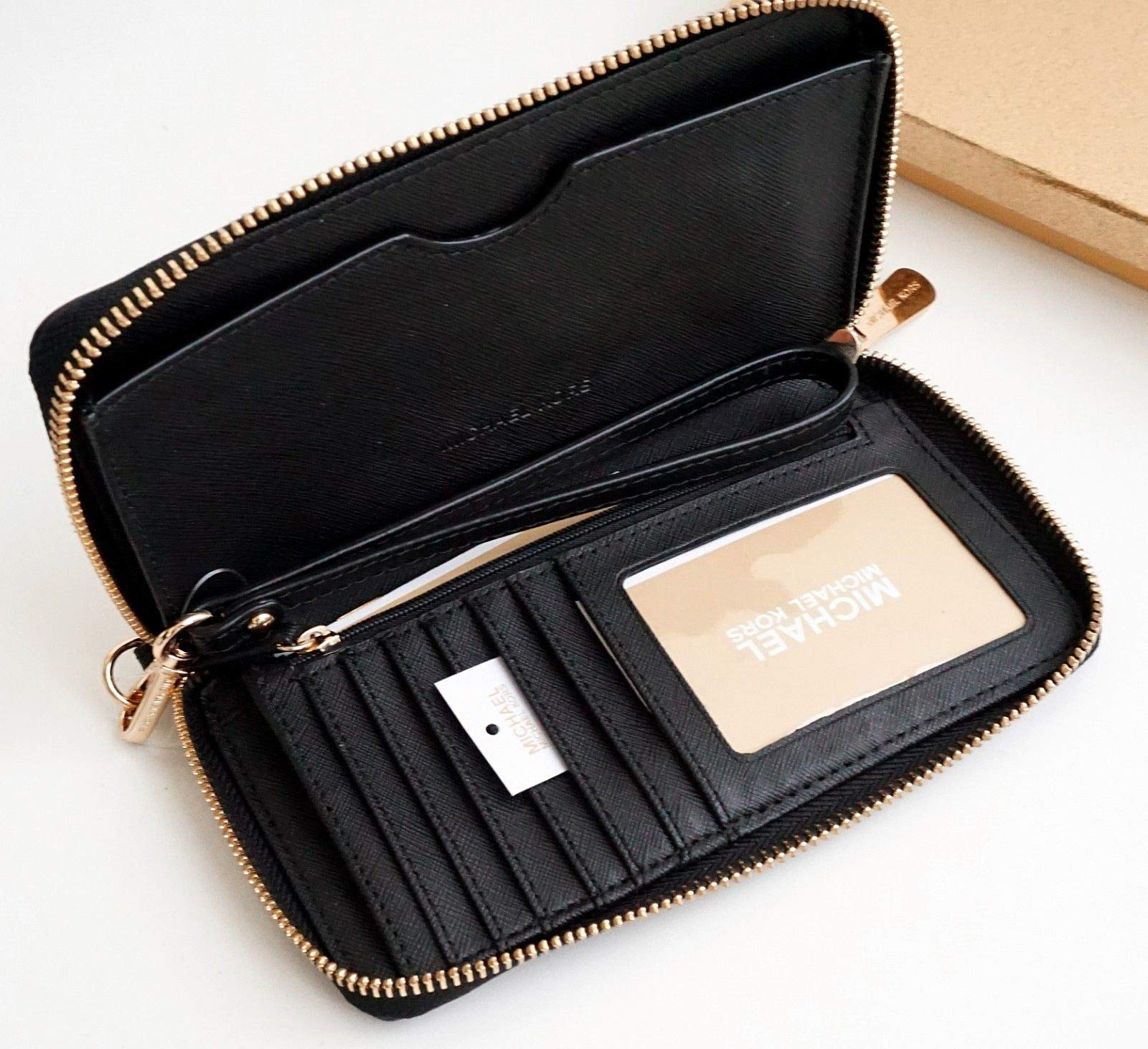 Michael Kors Giftables LG Flat MF Phone Case Black Saffiano Heart Studs by Michael Kors (Image #4)