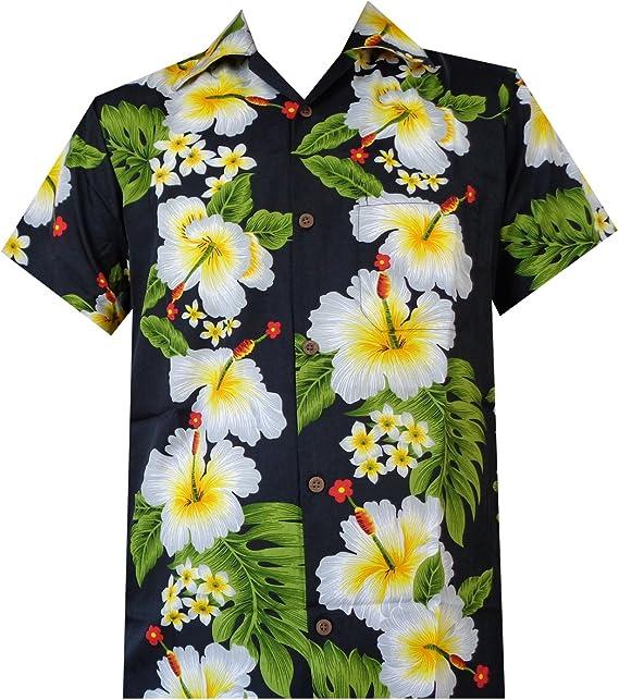 Mens Panel Hibiscus Season Hawaiian Aloha Shirt