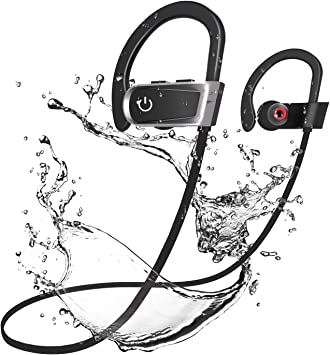 Écouteurs Sport Bluetooth, bagotte IPX7 Étanche Écouteurs
