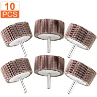 """10-Pack Kelco 2-1//2/"""" X 1//2/"""" X 1//4/"""" 120 Grit Mounted Flap Wheel A//O"""