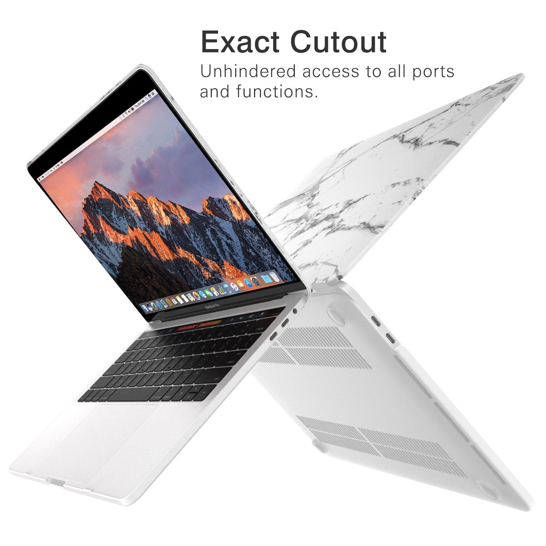 MoKo Funda para MacBook Pro 13 2017//2016 Agua Azul Slim Ordenador protector funda de Matorral para Nuevo Apple MacBook Pro 13 pulgadas A1706 // A1708 Con // Sin Touch Bar, Versi/ón 2017//2016