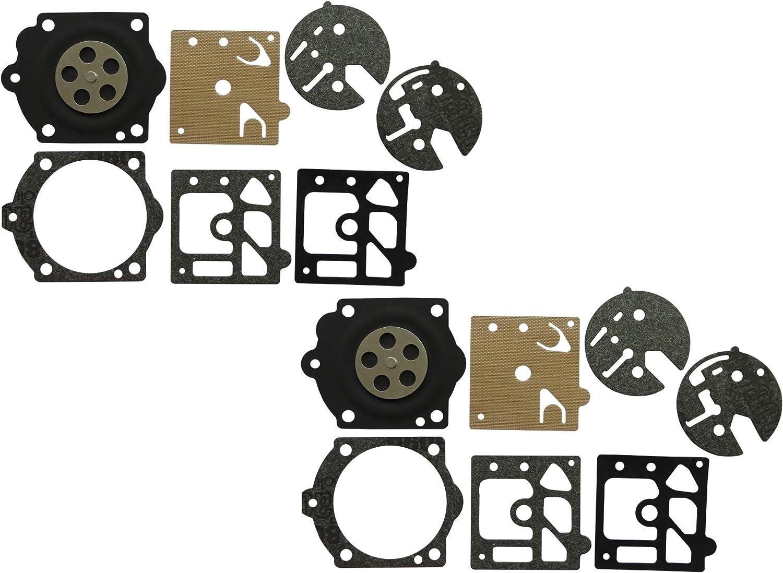 Paquete de 2 Kit de Junta y diafragma de carburador sustituye a Walbro D10-HDB para Echo CS500 CS501 CS502 CS650 CS651 Poulan Pro